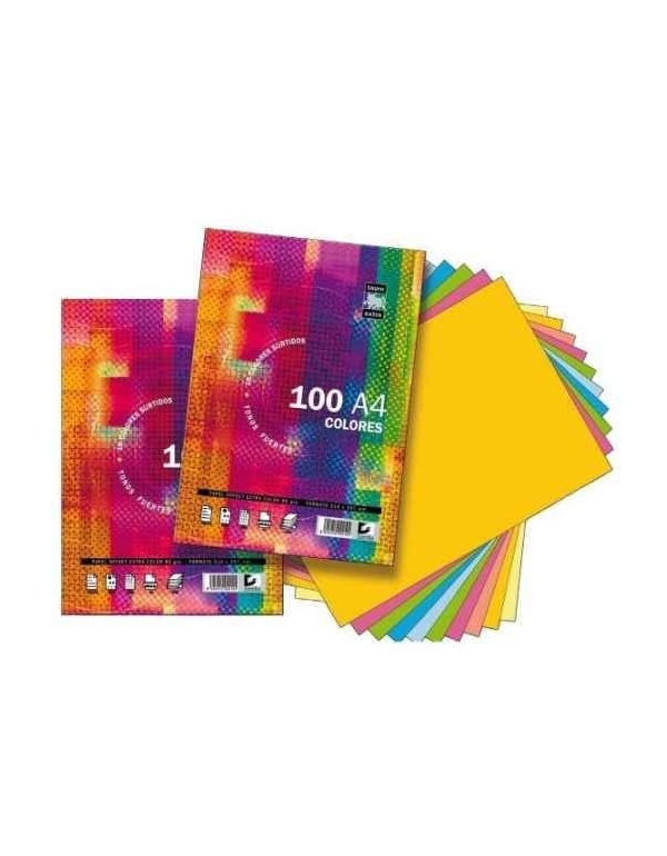 Papel TAURO Extra 80 g. Din-A4 Paquete x100 Hojas Colores