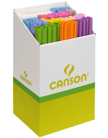 Papel Pinocho CANSON 32 g/m2 Expositor x60 Rollos Colores