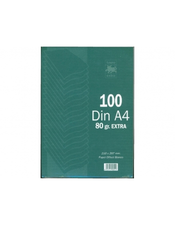 Papel Din A4 TAURO 80 g. Paquete x100 Hojas